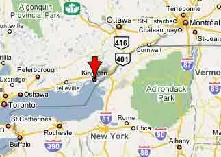 Directions to Kingston Ontario